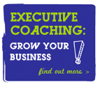 Cartoon exclamation mark depicting executive coaching