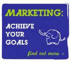 Cartoon elephant for winning strategic clients
