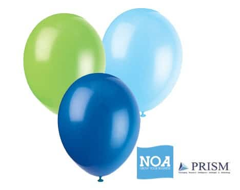 Balloons to celebrate NOA business partnership