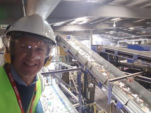 Neil Osment visiting a Recycling Facility in Milton Keynes as part of ongoing NOA Market Research projects